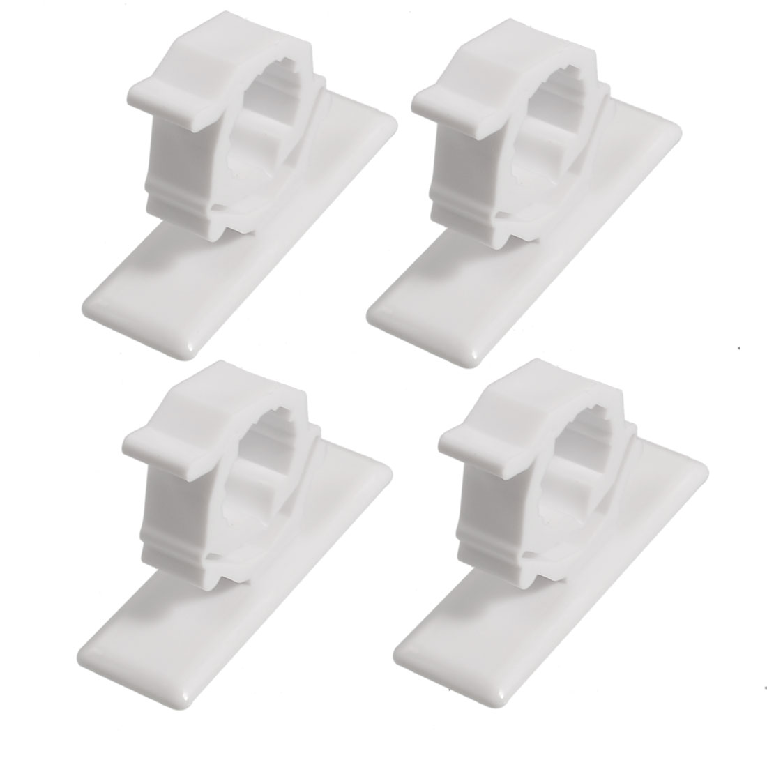 Wardrobe Mounted 16mm Dia Rod Garment Clothes Rod Lever Bracket Holder 2 Pairs