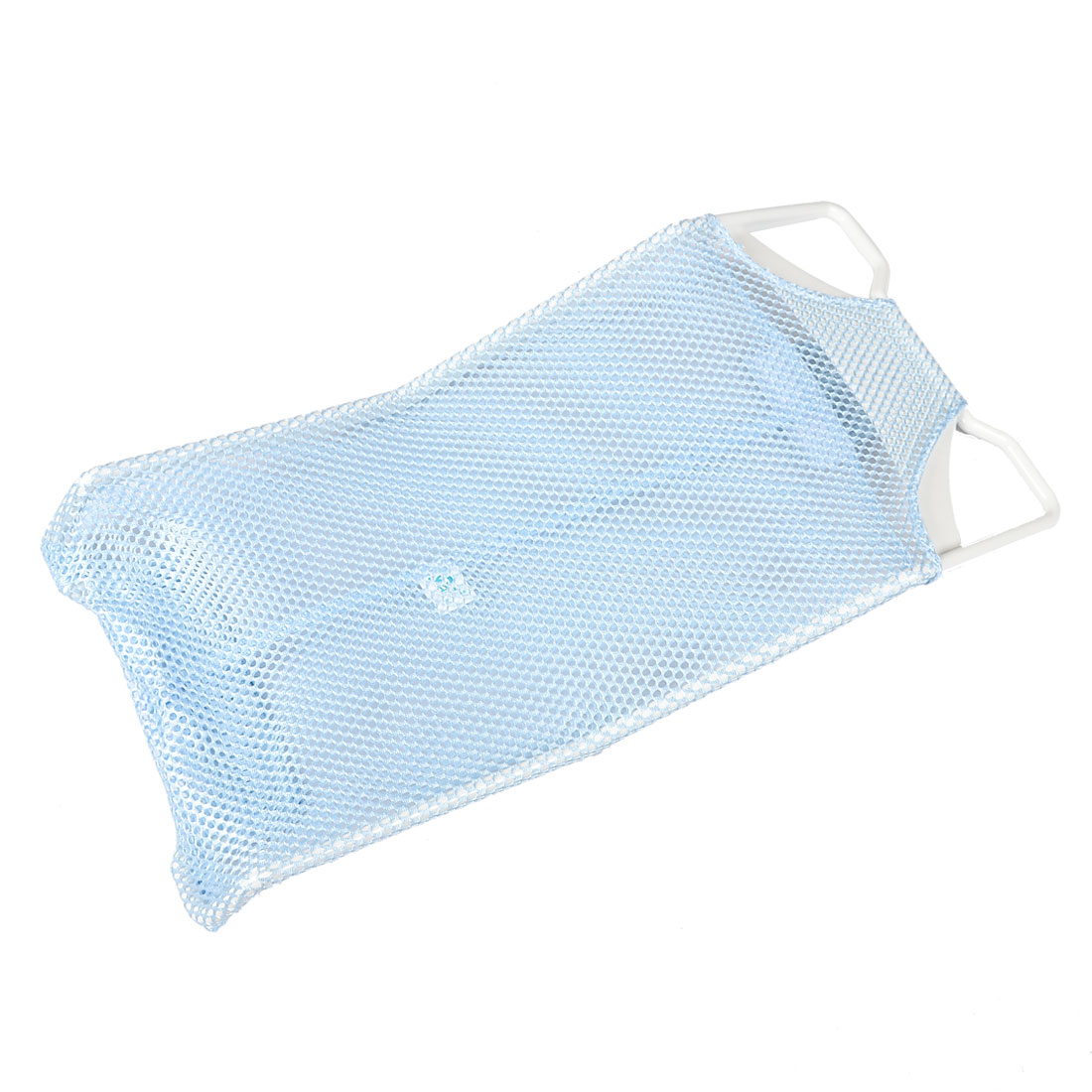 Household Plastic Frame Light Blue Meshy Infant Baby Bathing Net Bed