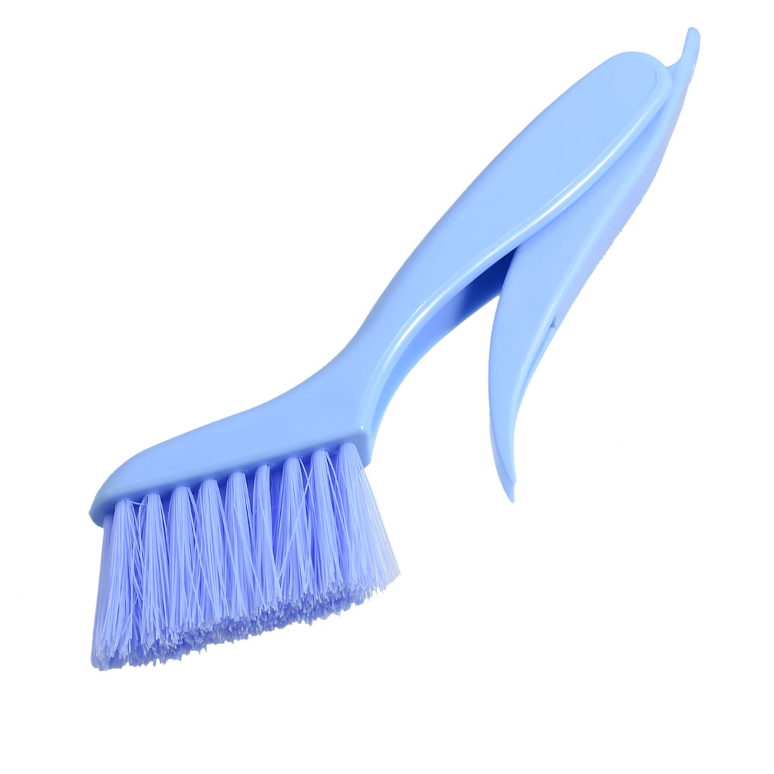 Soft Bristle Blue Plastic Foldable Handle Window Cleaning Brush Scraper