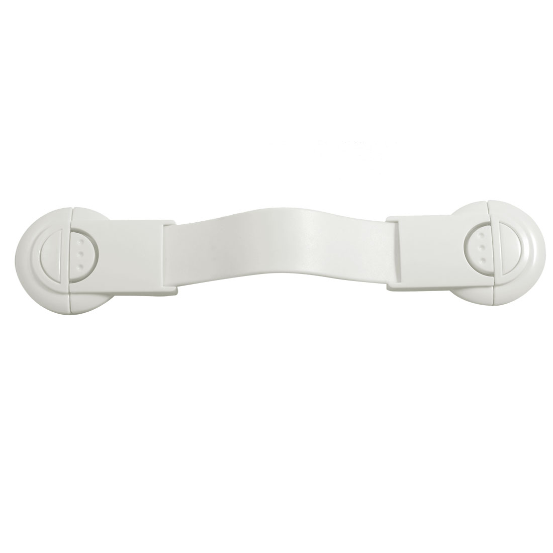 Household White Plastic Cupboard Wardrobe Door Lock