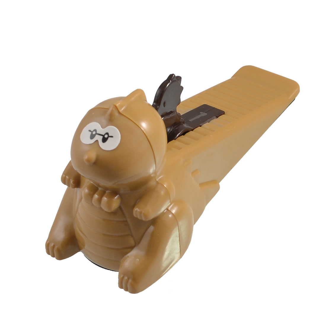 Household Cartoon Animal Shaped Brown Plastic Door Stopper Doorstop