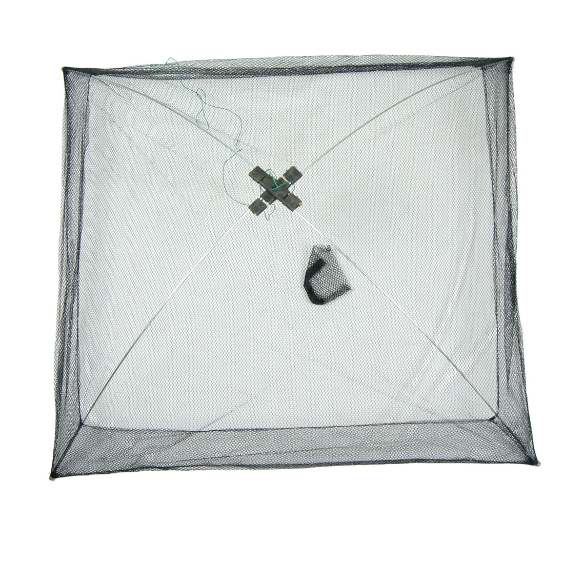 80cm x 80cm Umbrella Crab Bait Cast Lures Fishing Dip Net Black