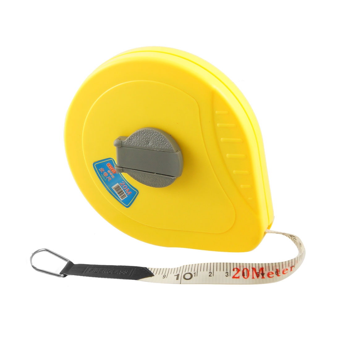 20M Yellow Plastic Housing Soft Pull Tape Measuring Tool