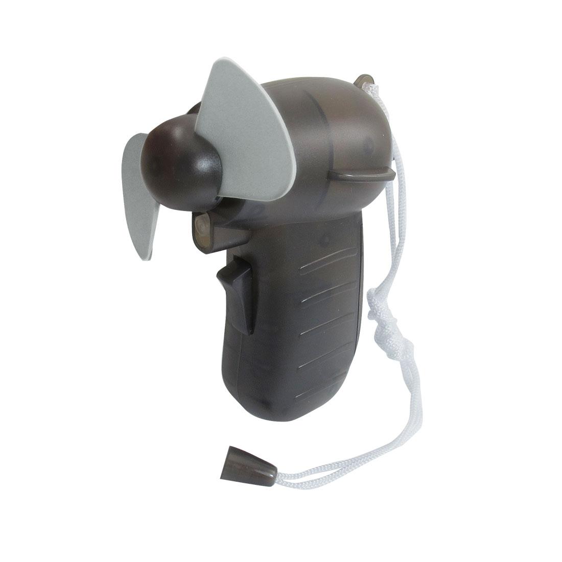 Black Gun Shape Plastic Cover Battery Household Water Spray Mini Fan