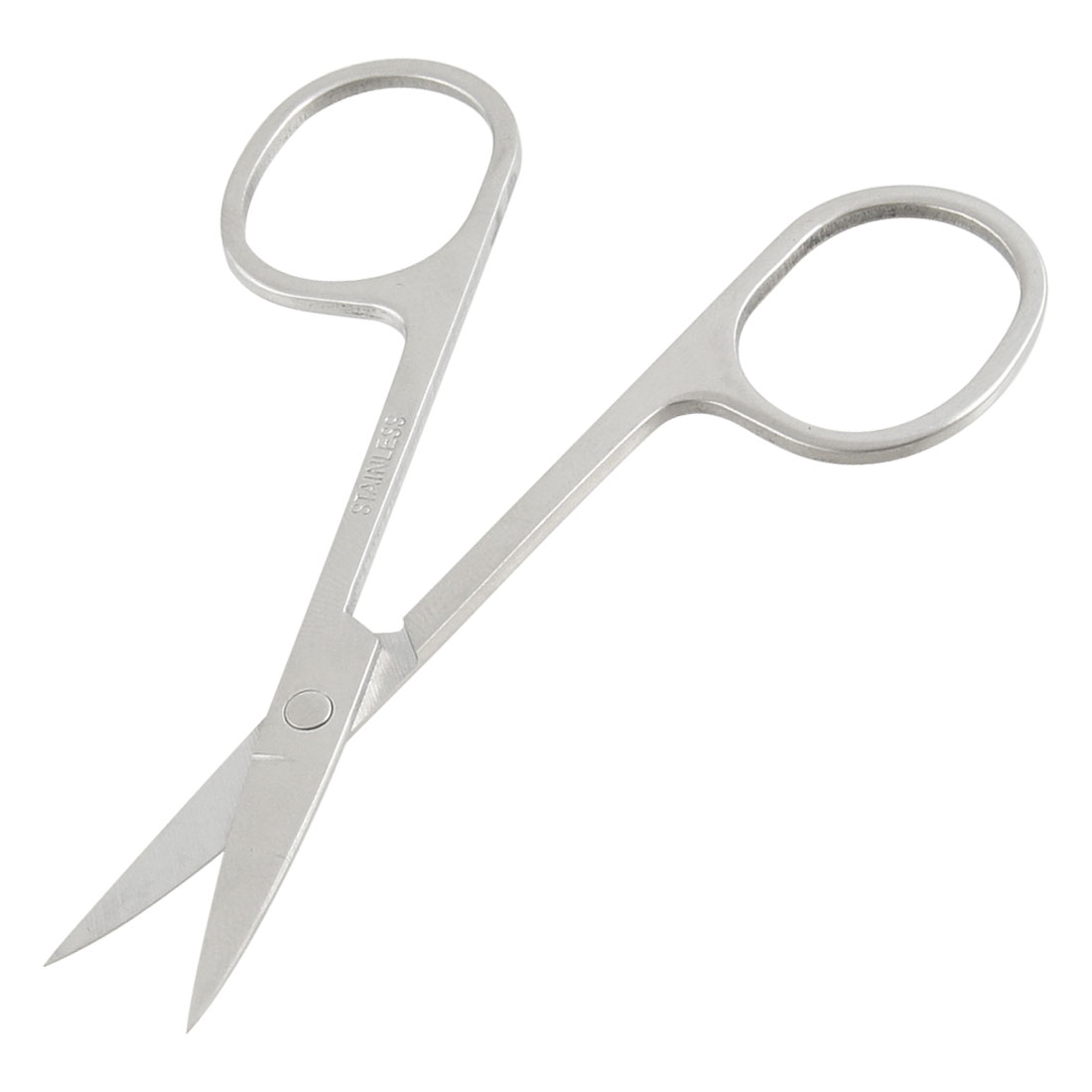 Silver Tone Curved Hair Eyebrow Nail Trim Beauty Scissors 3.4""