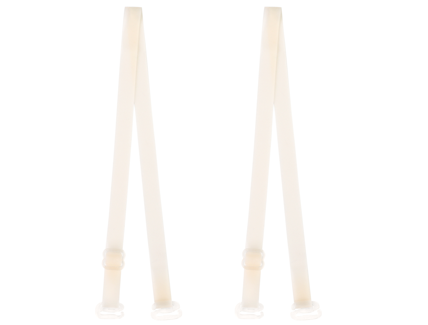 Pair Adjutable Clear Beige Invisible Bra Shoulder Strap for Lady
