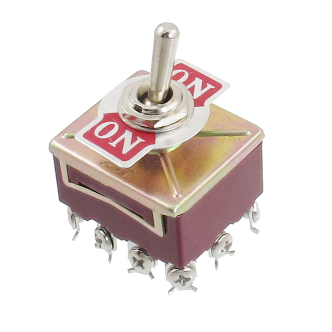 4PDT ON/ON 2 Position Panel Mount Toggle Switch AC 250V/15A 380V/10A