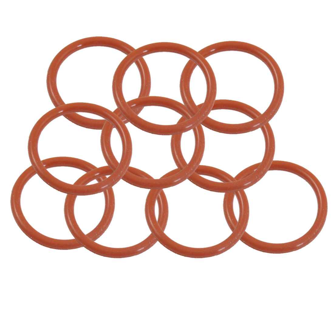 10 Pcs Red Mechanical Nitrile Rubber O Ring Oil Seal Gaskets 34mm x 28mm x 4mm