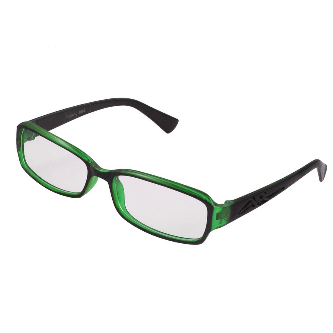 Lady Green Full Frame Carved Arm Plain Plano Eyeglass