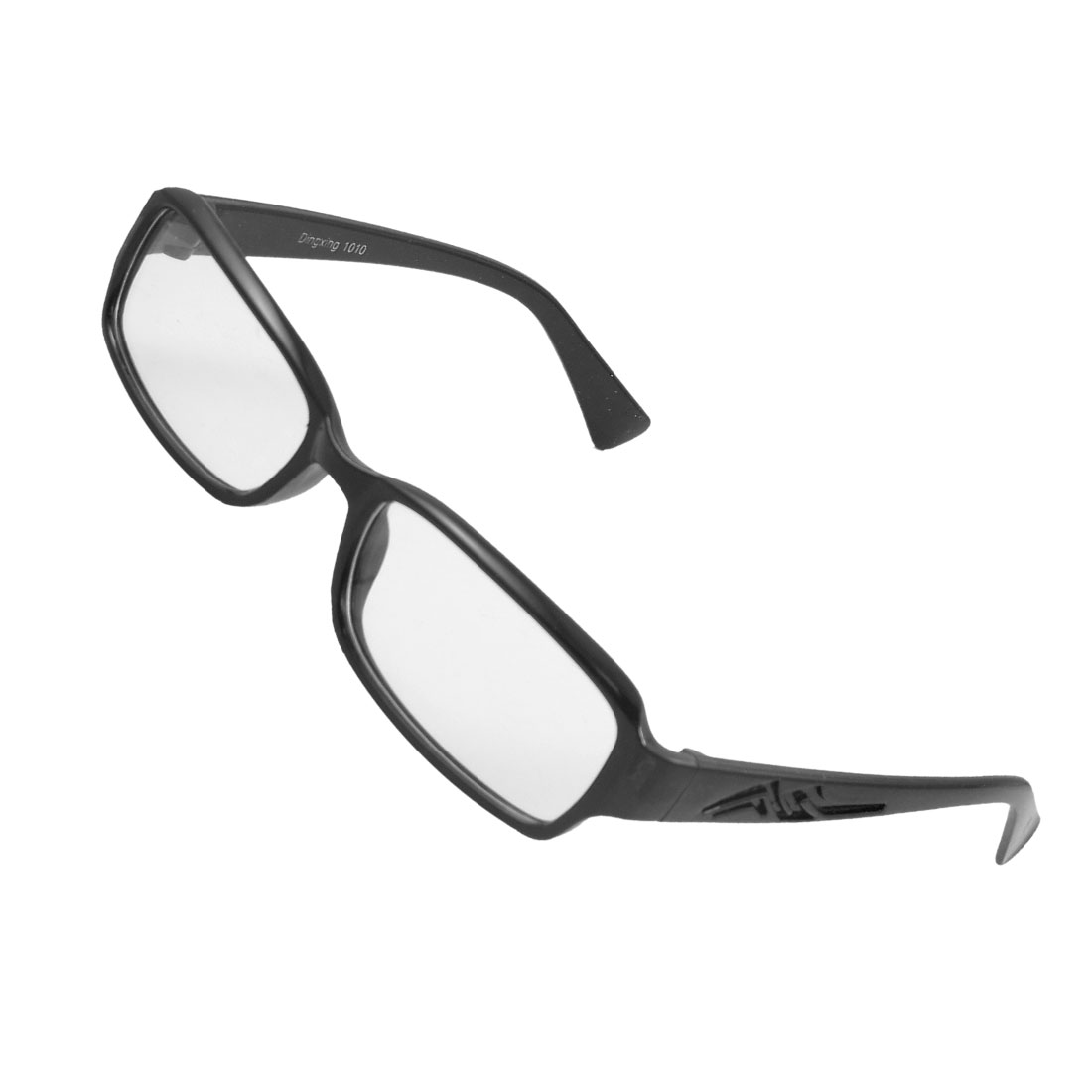 Lady Full Frame Carved Arm Plain Plano Eyeglass Black