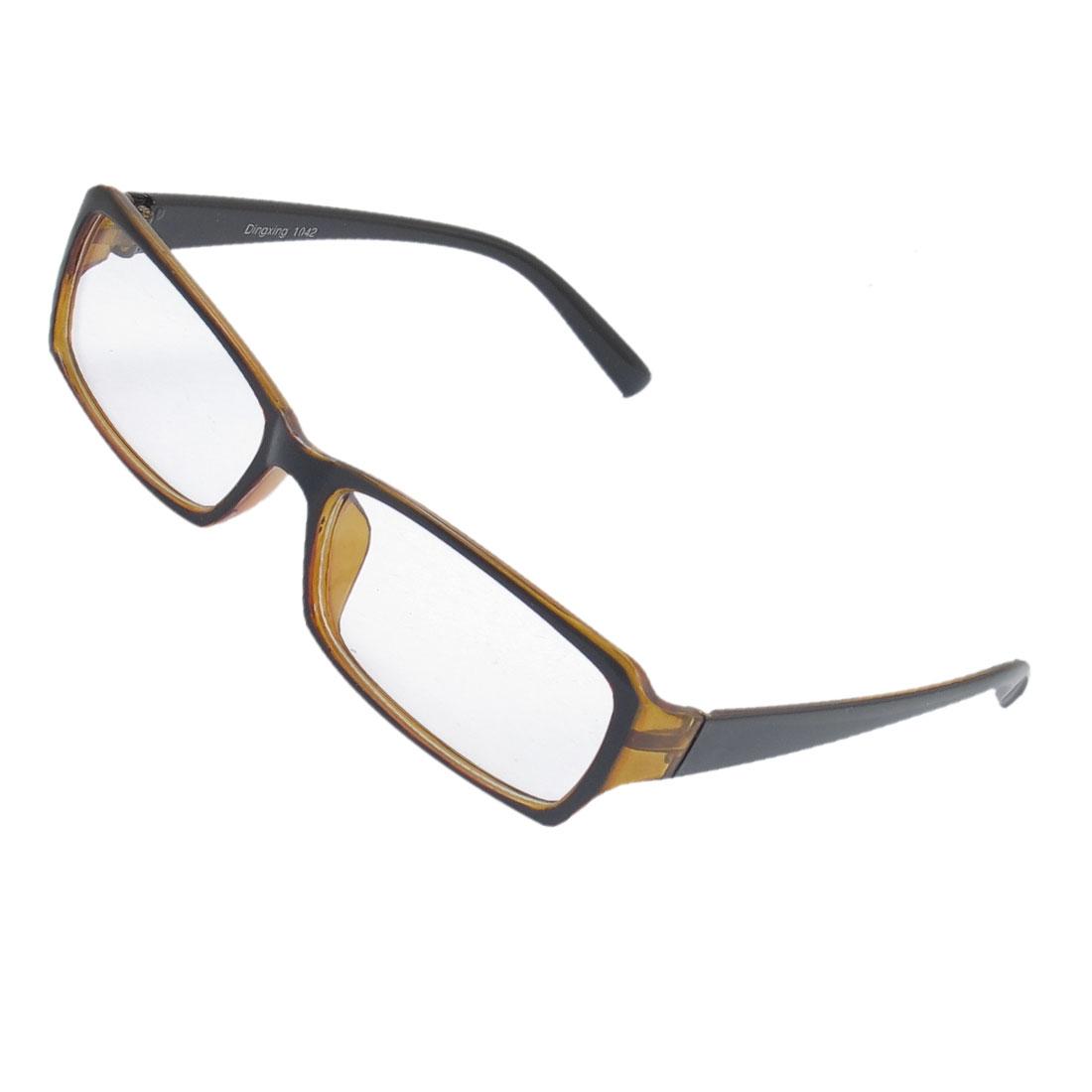 Lady Full Rim Clear Lens Plain Glasses Eyeglass Eyewear Black Brown
