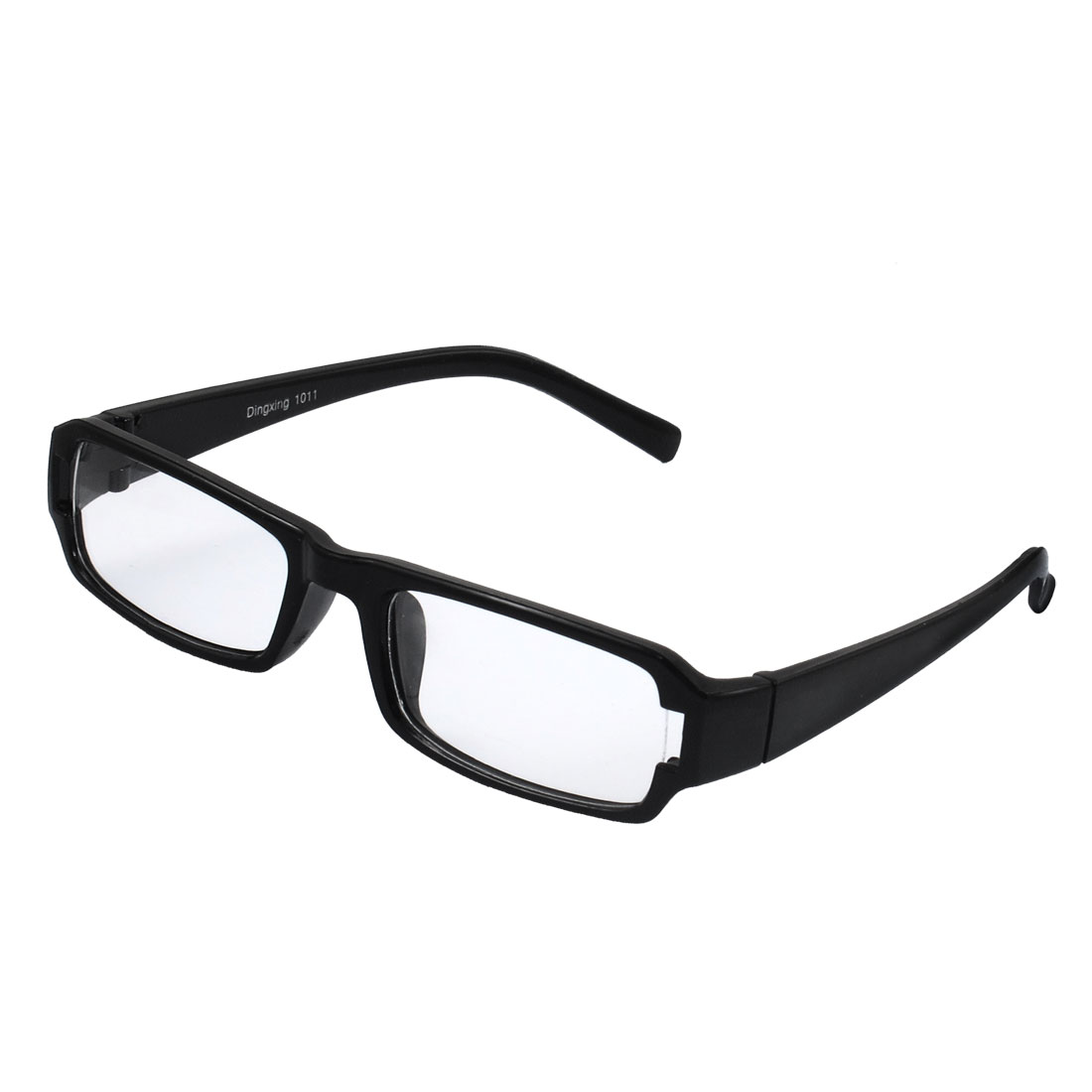 Lady Full Frame Rectangle Lens Plain Plano Eyeglass Black