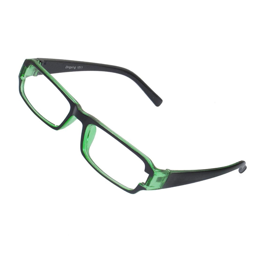 Lady Full Frame Rectangle Lens Plain Plano Glasses Eyeglass Black Green