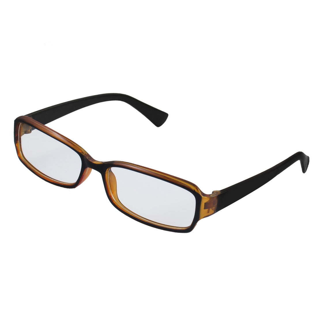 Lady Full Frame Rectangle Lens Plain Plano Glasses Eyeglass Black Brown