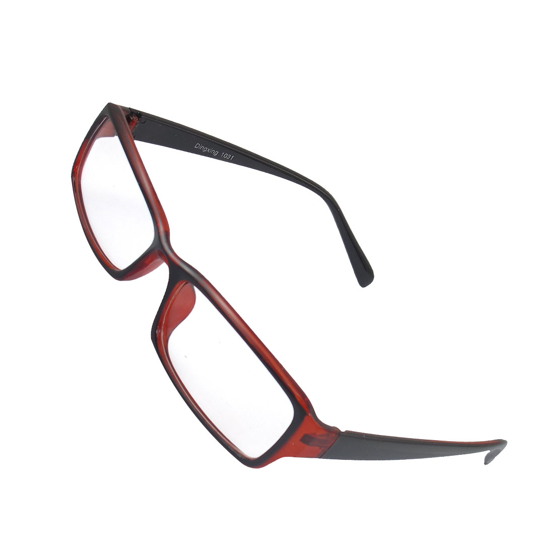 Lady Full Rim Clear Lens Plain Glasses Eyeglass Eyewear Black Red