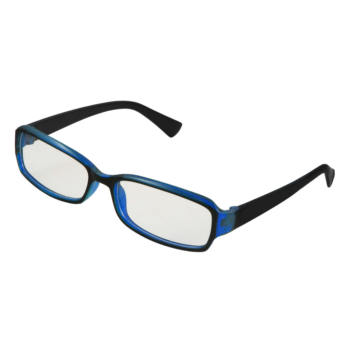 Lady Full Rim Clear Lens Plain Glasses Eyeglass Eyewear Black Blue