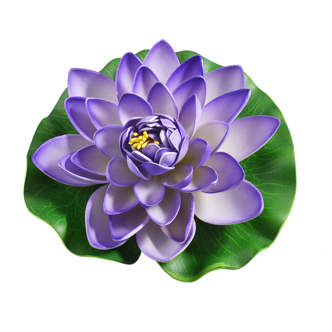 "Aquarium 6"" Dia Emulational Lotus Flower Floating Plant Purple Green"