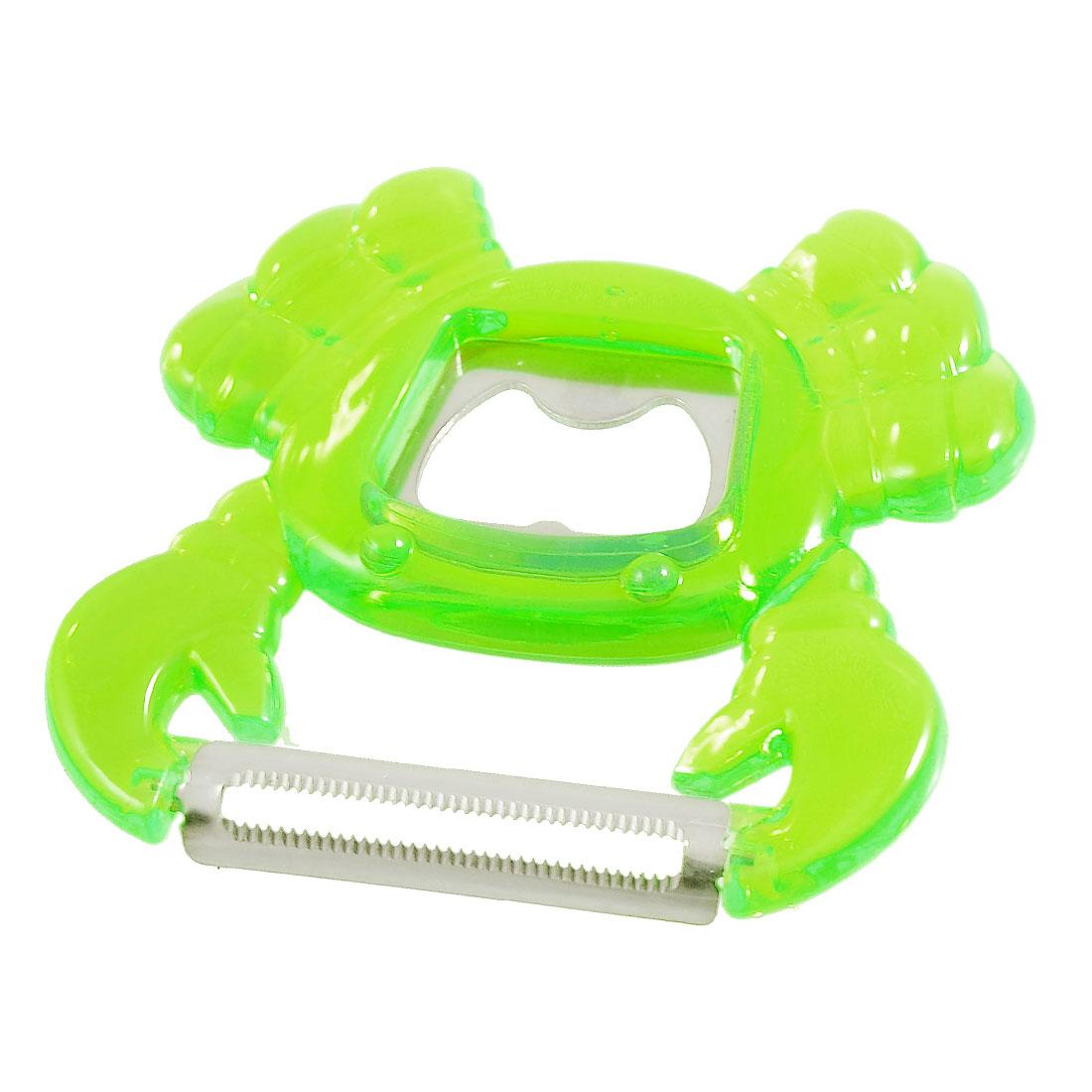 Green Plastic Crab Style Grip Vegetable Peeler Bottle Opener