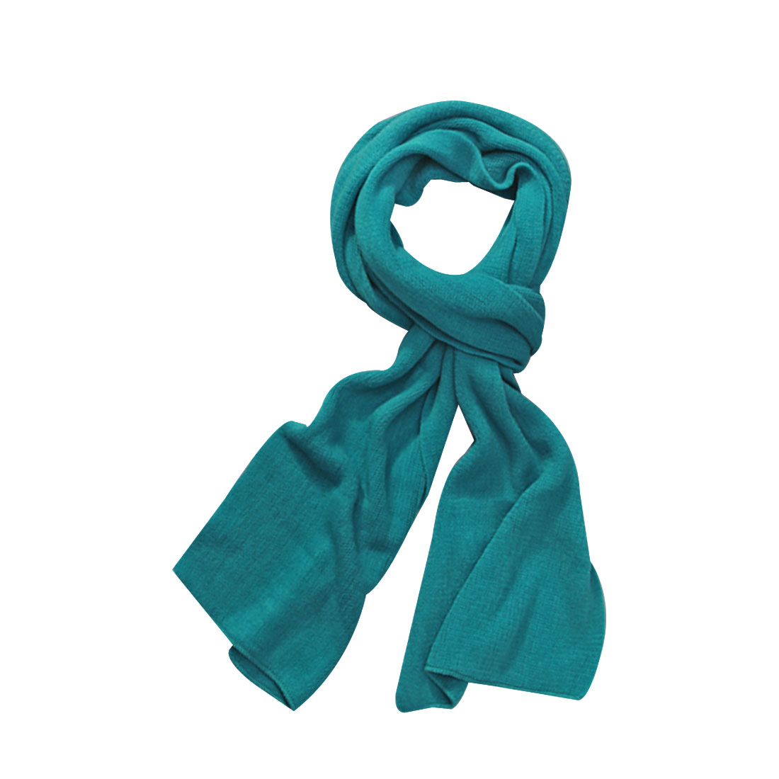 "Unisex Teal Color 11.8"" Width Simple Design Acrylic Winter Cool Scarves"