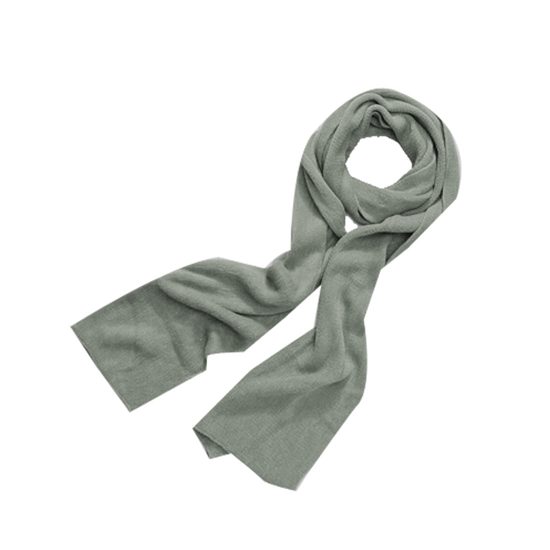 "Unisex Gray Fashion Solid Color Warm 11.8"" Width Simple Long Neckerchief"