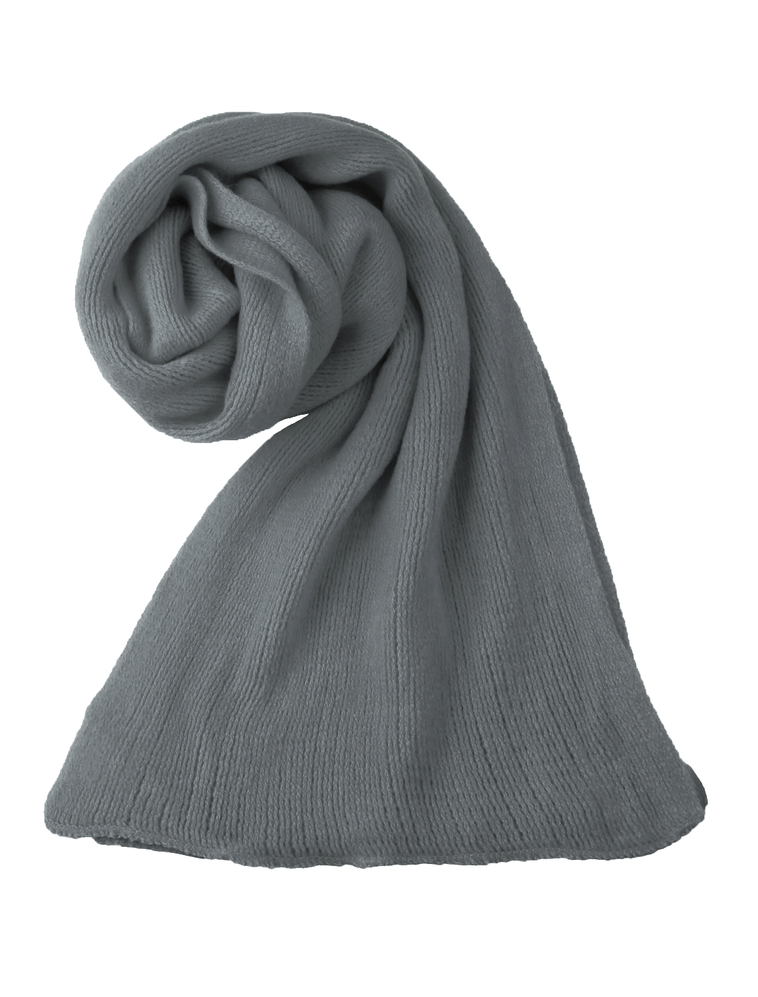"Unisex Dark Gray NEWS 81.9"" Length Rectangle Solid Color Casual Scarf"