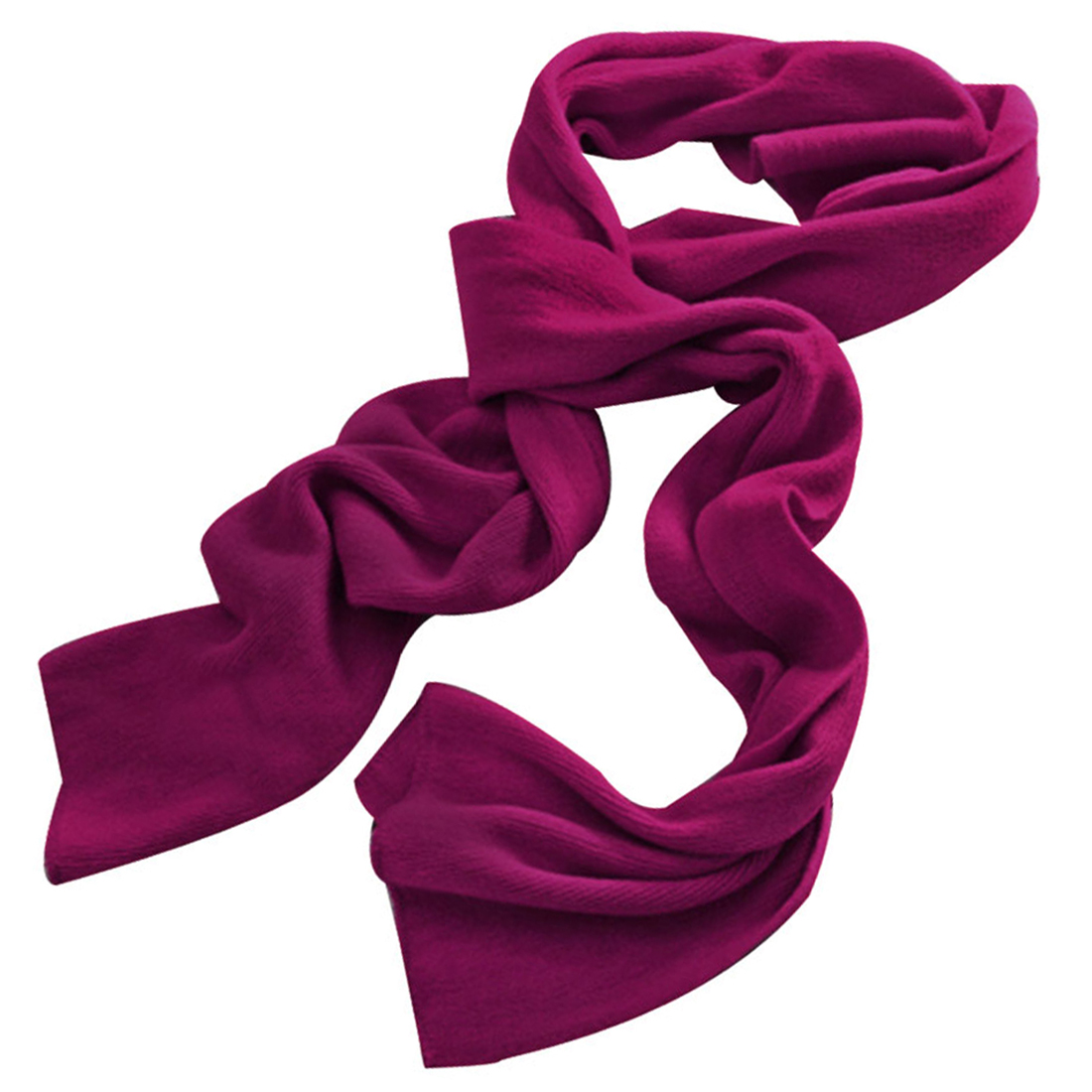 Unisex Fuchsia Fashion Simple Style Acrylic Rectangle Design Casual Scarf