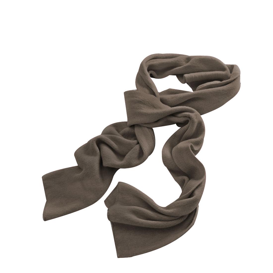 "Unisex Khaki Color NEW 81.9"" Length Stretch Simple Long Winter Neckerchief"
