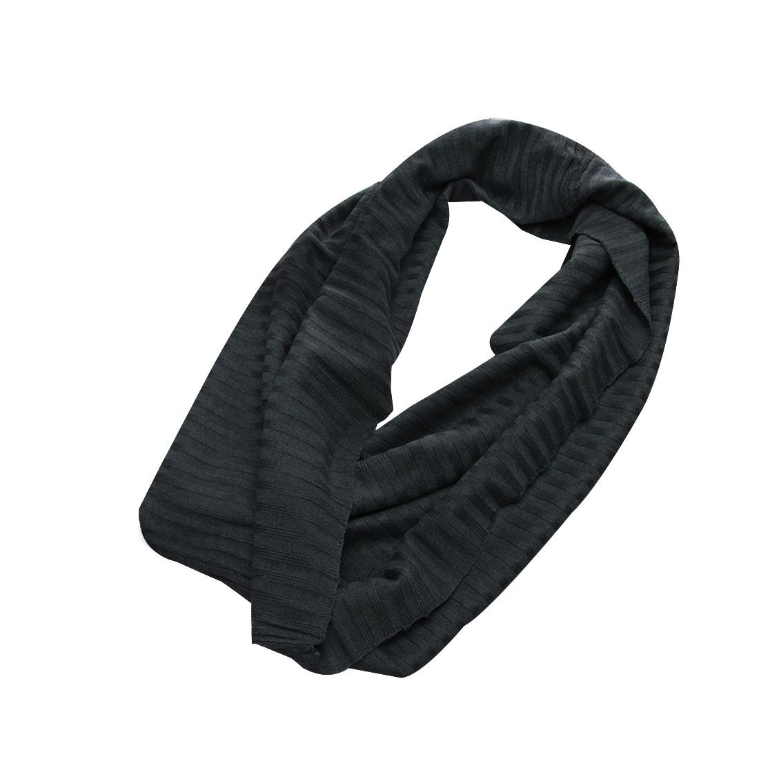 Men Dark Gray Fashion Stretchy Solid Color Simple Design Scarf Scarves