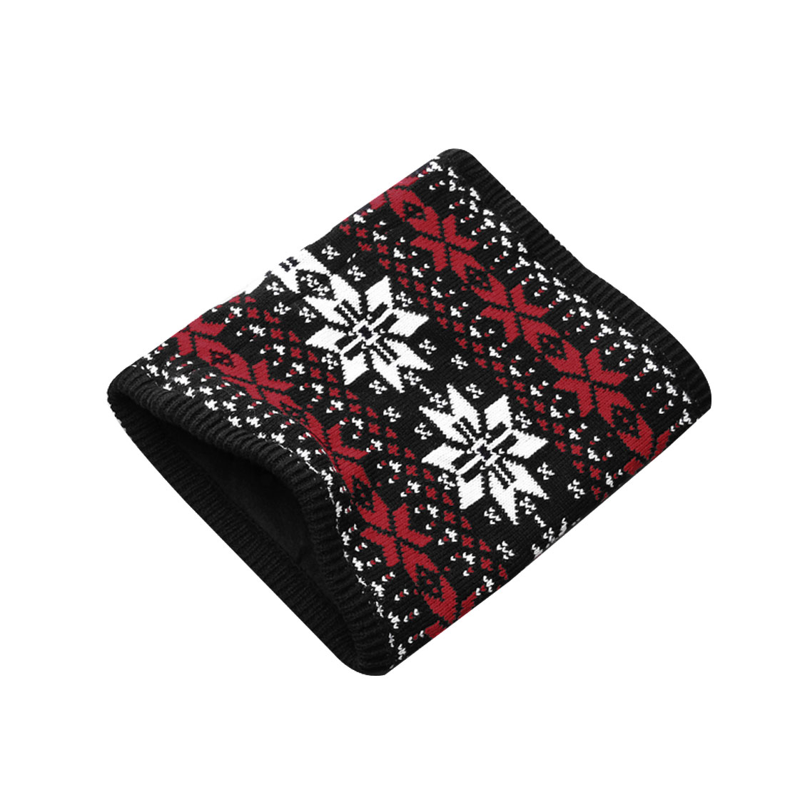 Mens Red White Black Fashion Novelty Prints Stretch Knitting Tube Scarf