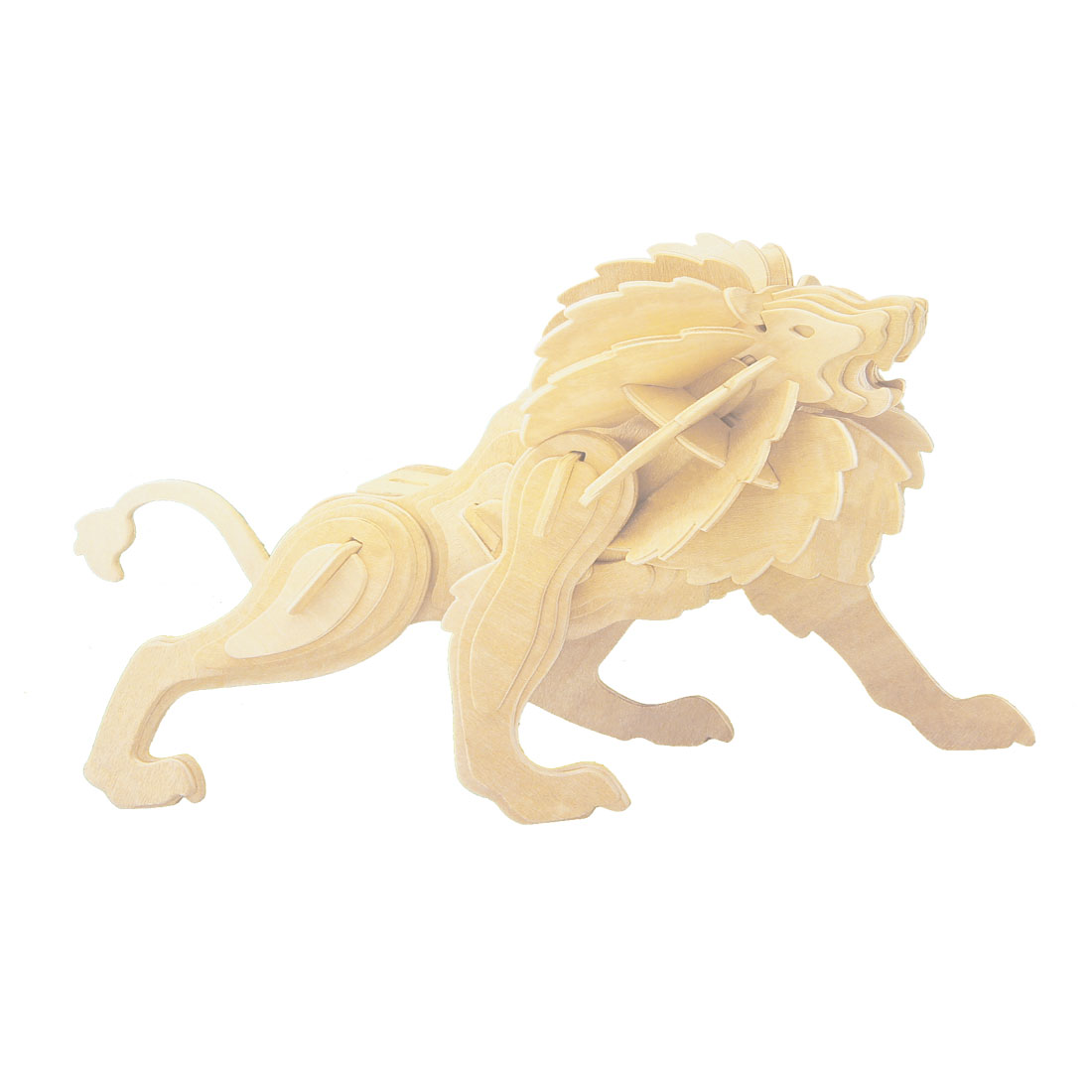 Children 3D Puzzle Little Lion Model Wooden Construction Kit Toy