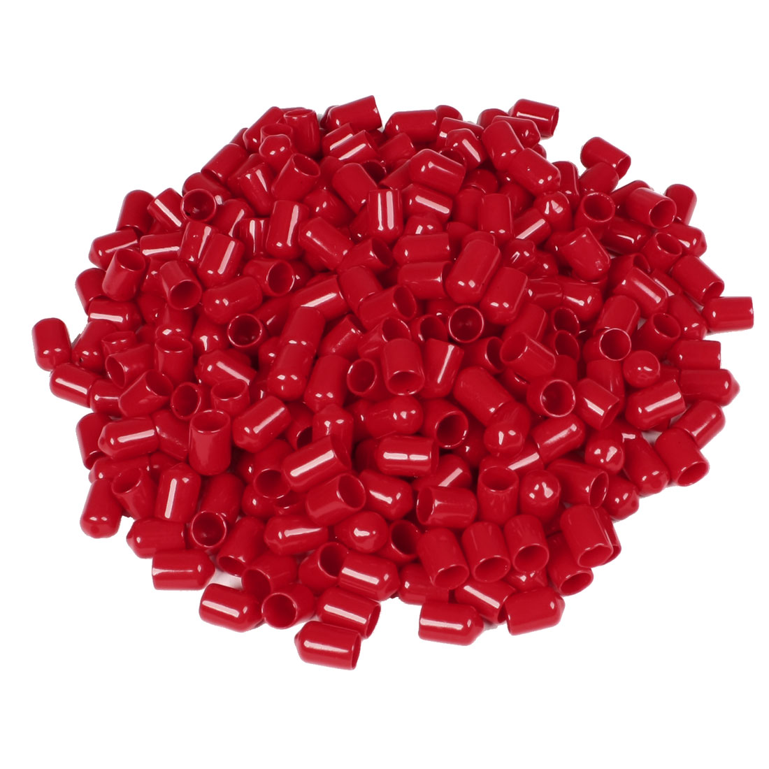 400 Pcs 16mm Height 10mm Inner Dia Round Tip Red PVC Insulated End Caps