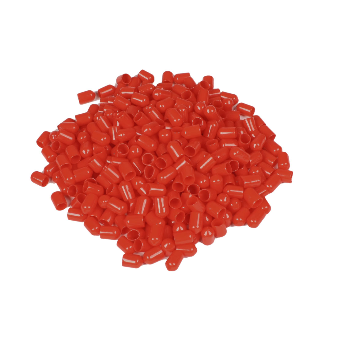 400 Pcs 14mm Height 8mm Inner Dia Round Tip Red PVC Insulated End Caps