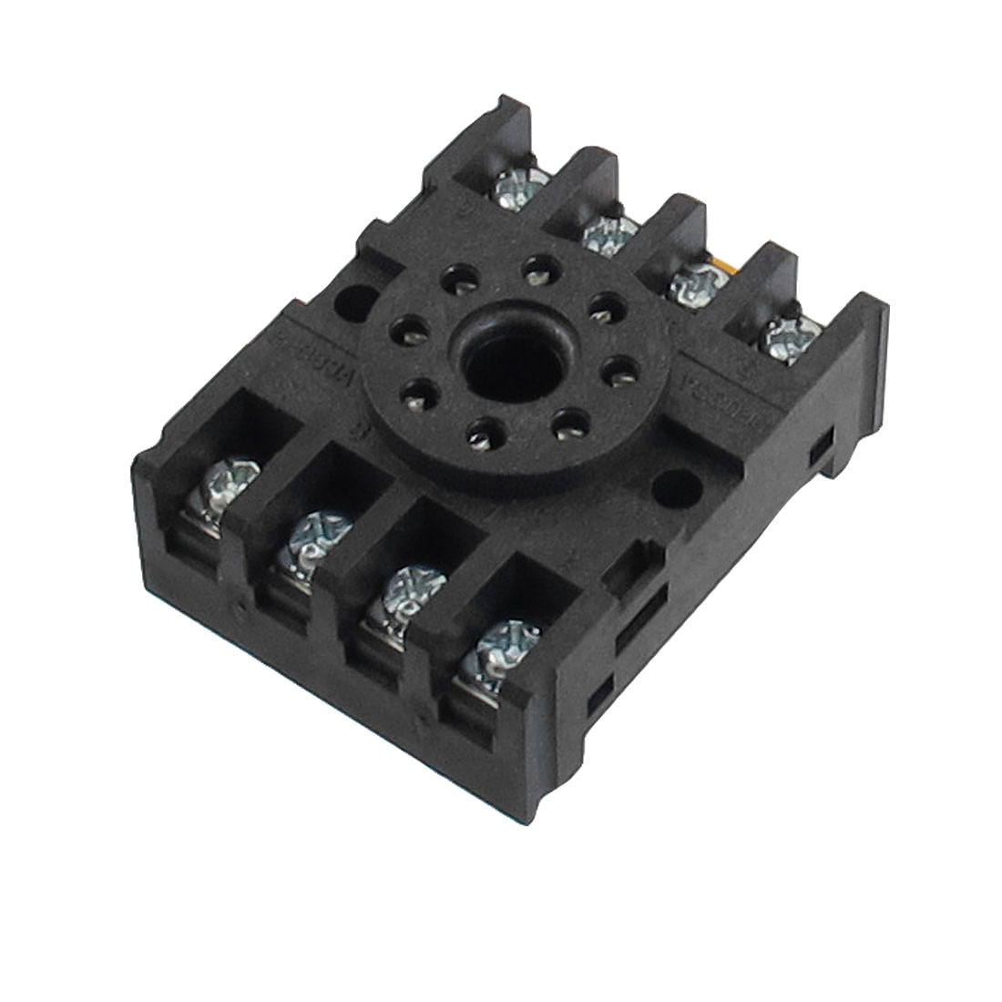 PF-083A 10A 250VAC 8 Round Pin Rail Mount Power Relay Socket Base for MK2P