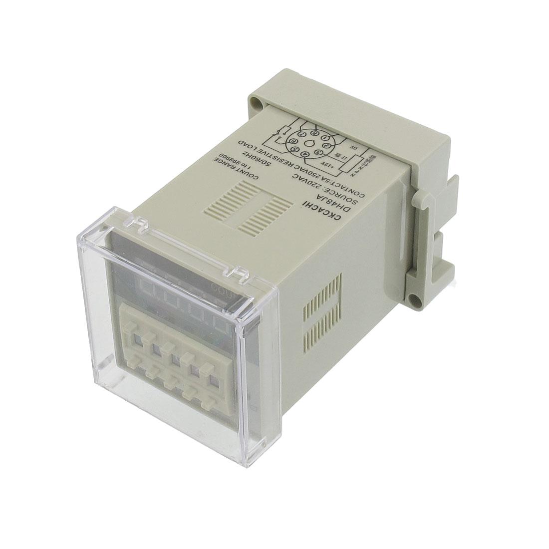 DH48JA 220VAC 1-999900 Count Range 8 Pins Digital Counter Relay
