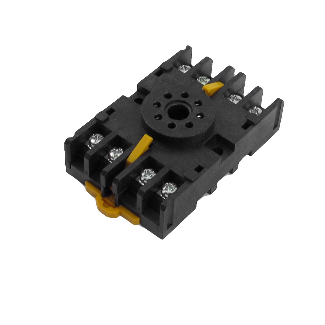 8PFA 10A 300VAC 8 Round Pin Rail Mount Power Relay Socket Base for JS14