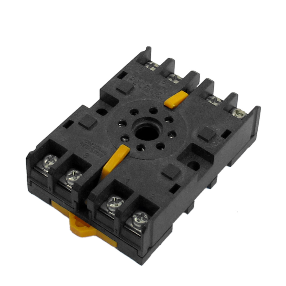 P2CF-08 10A 250VAC 8 Round Pin Rail Mount Power Relay Socket Base for JS14