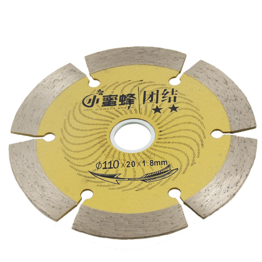 110mm x 16mm x 1.8mm Diamond Circular Crack Chaser Saw Cutter