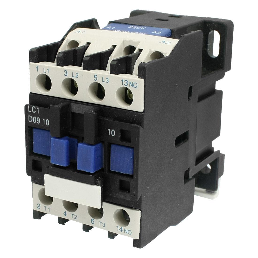 LC1-D0910 M4 220V Coil Motor Control 3 Poles One NO AC Contactor