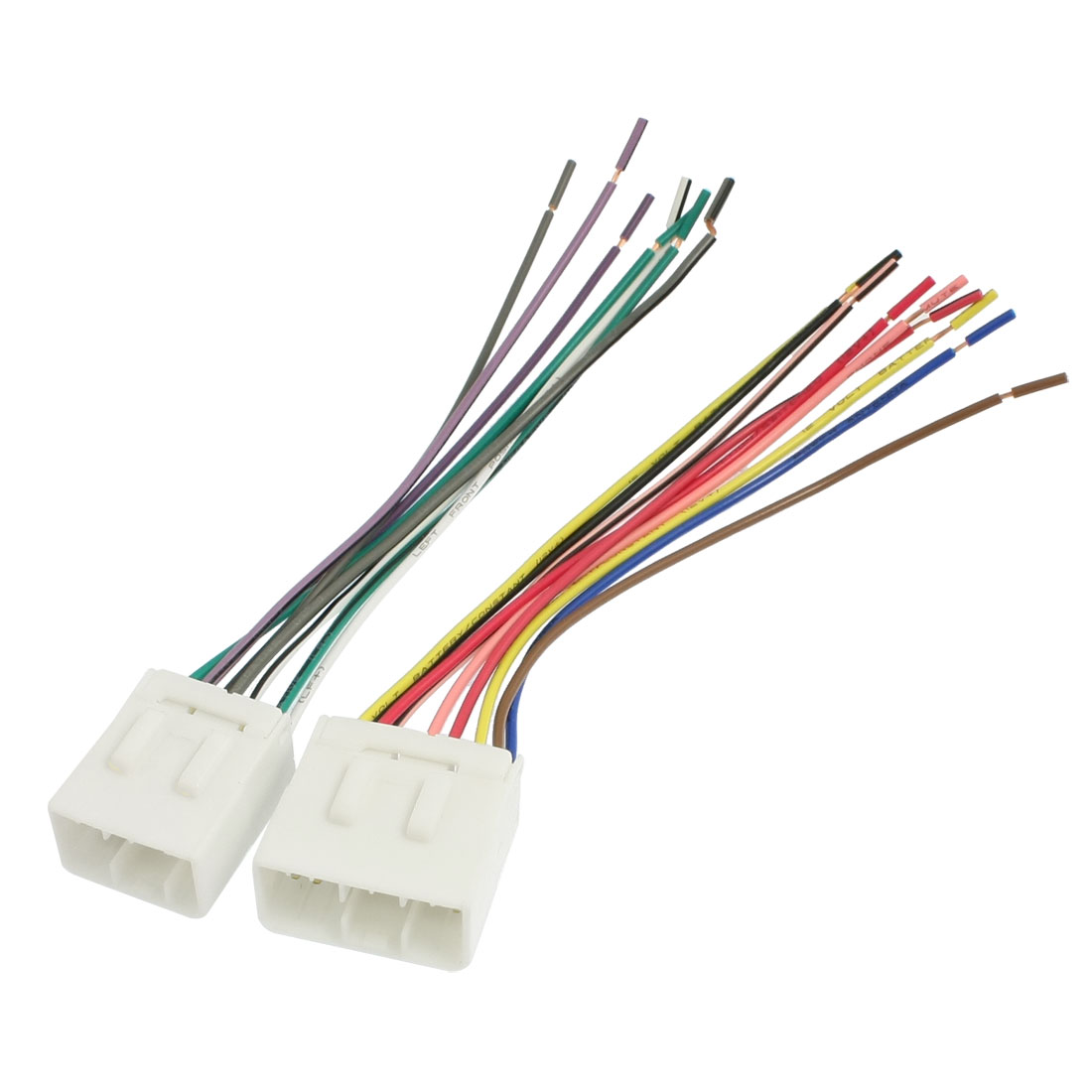 2 Pcs Auto Car DVD Stereo Wire Harness Male for Geely Emgrand