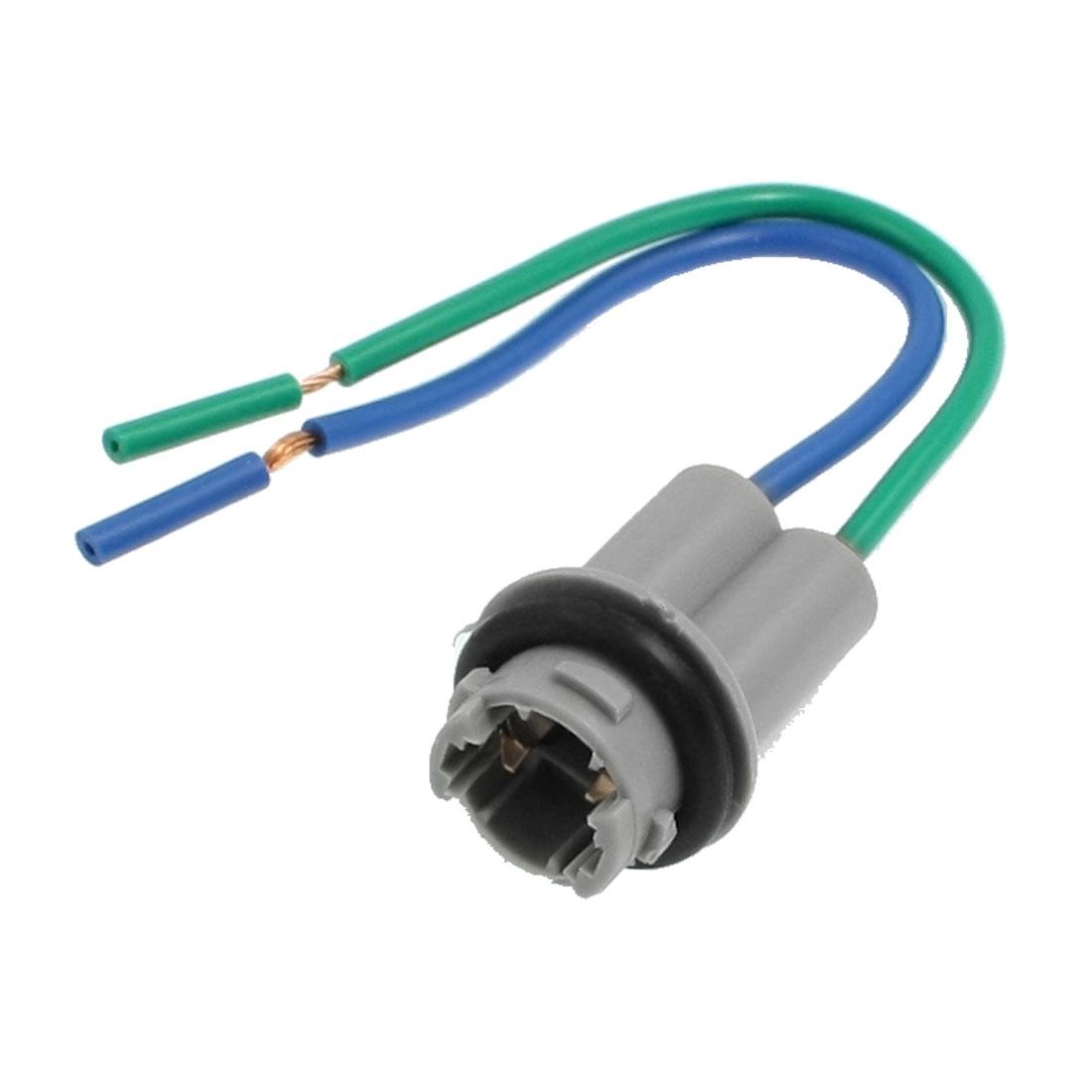 Car Auto T10 LED Bulb Brake Signal Light Socket Gray w Wire