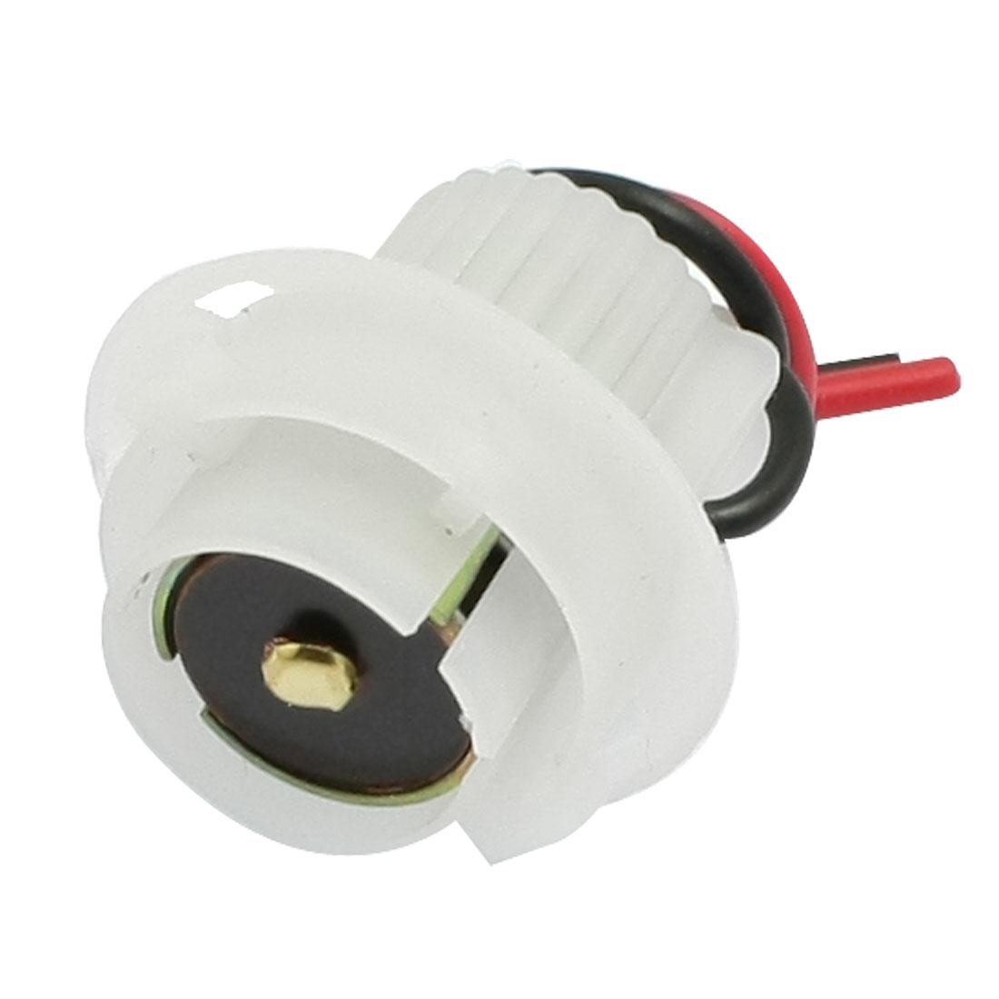 Car Auto 1156 LED Bulb Brake Signal Light Socket White w Wire
