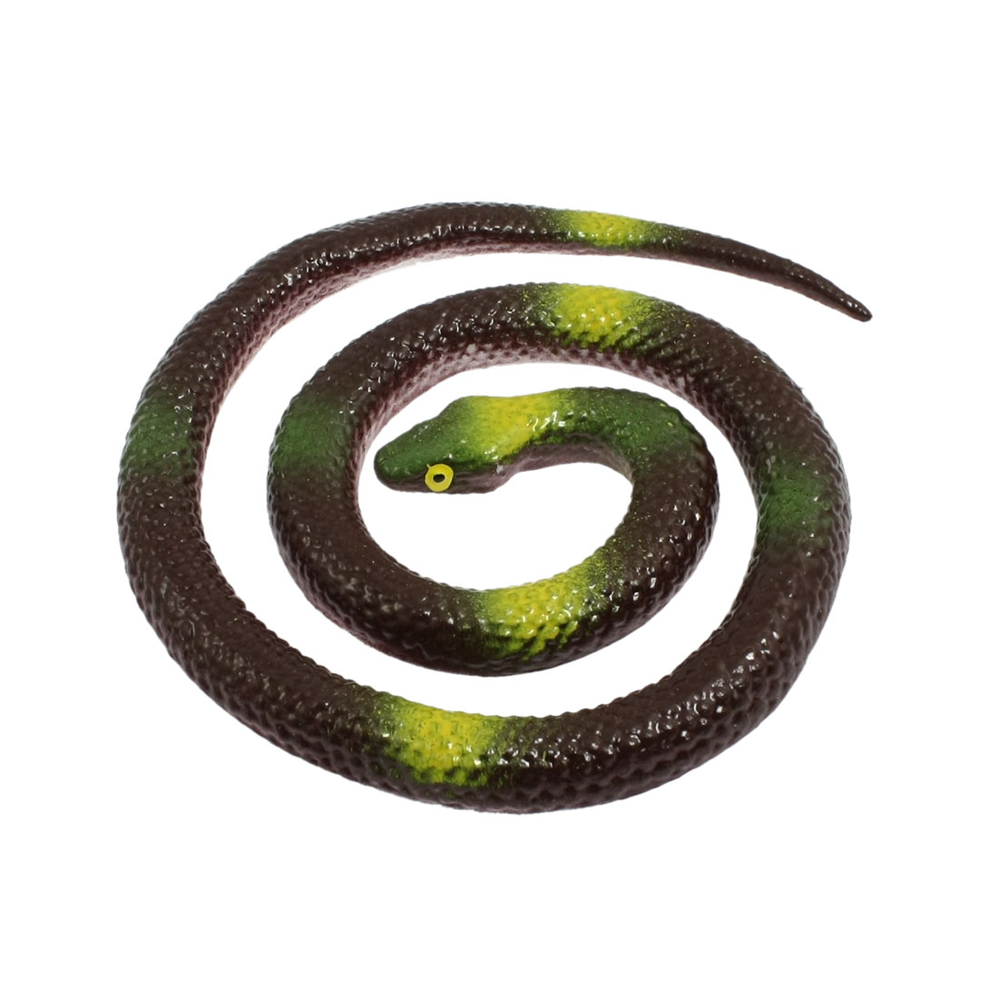 "25.7"" Long Coffee Color Silicone Artificial Snake Fun Joke Trick Toy"