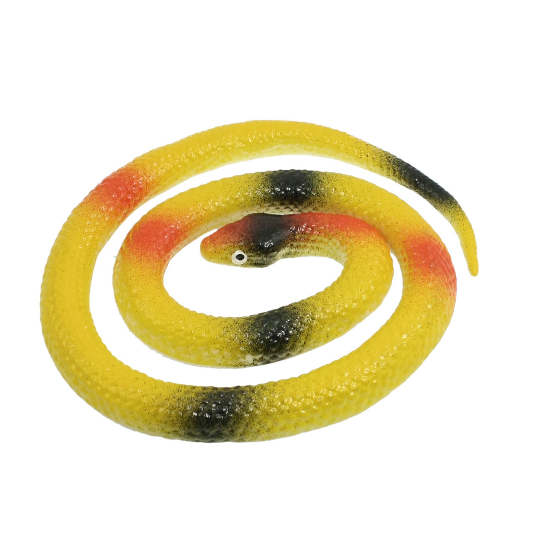 "25.7"" Length Yellow Silicone Artificial Snake Fun Joke Trick Toy"