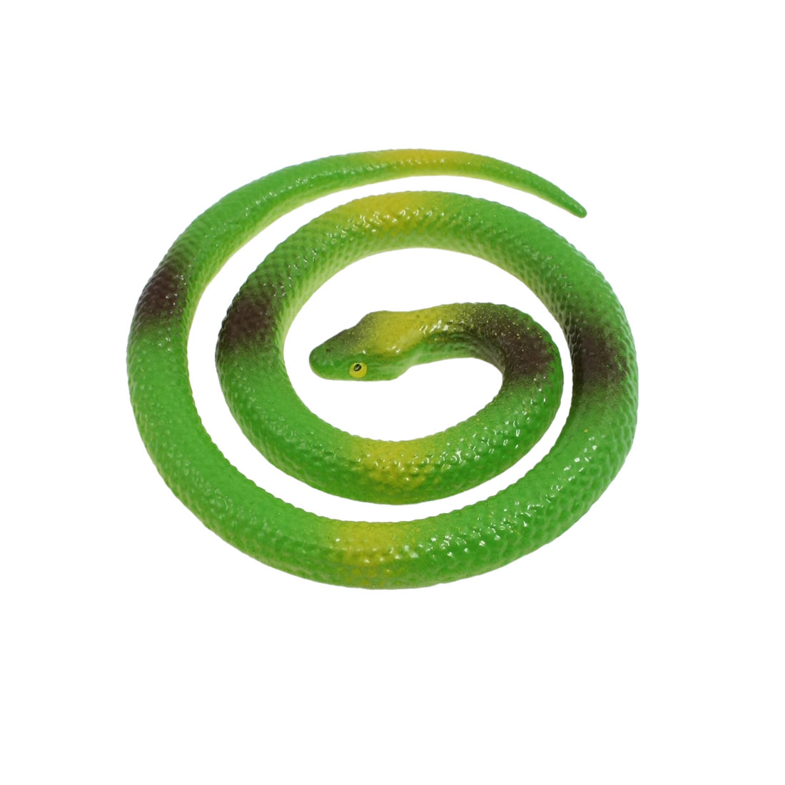 """25.7"""" Long Green Yellow Silicone Fake Animal Snake Trick Toy"""