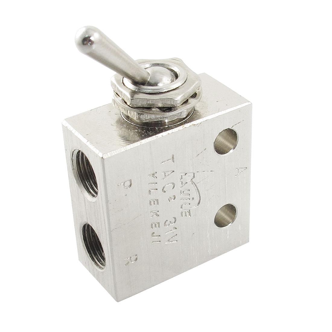 "1/8""PT Thread 2 Position 3 Way Rectangle Mechanical Air Pneumatic Valve"