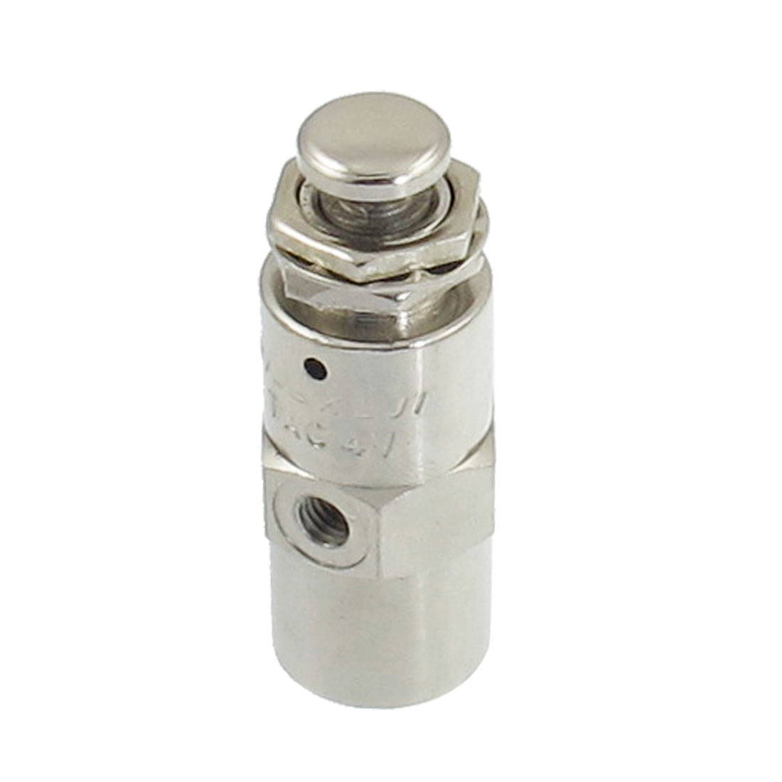 4.5mm Thread 2 Position 5 Way Cylindrical Flat Button Air Pneumatic Valve