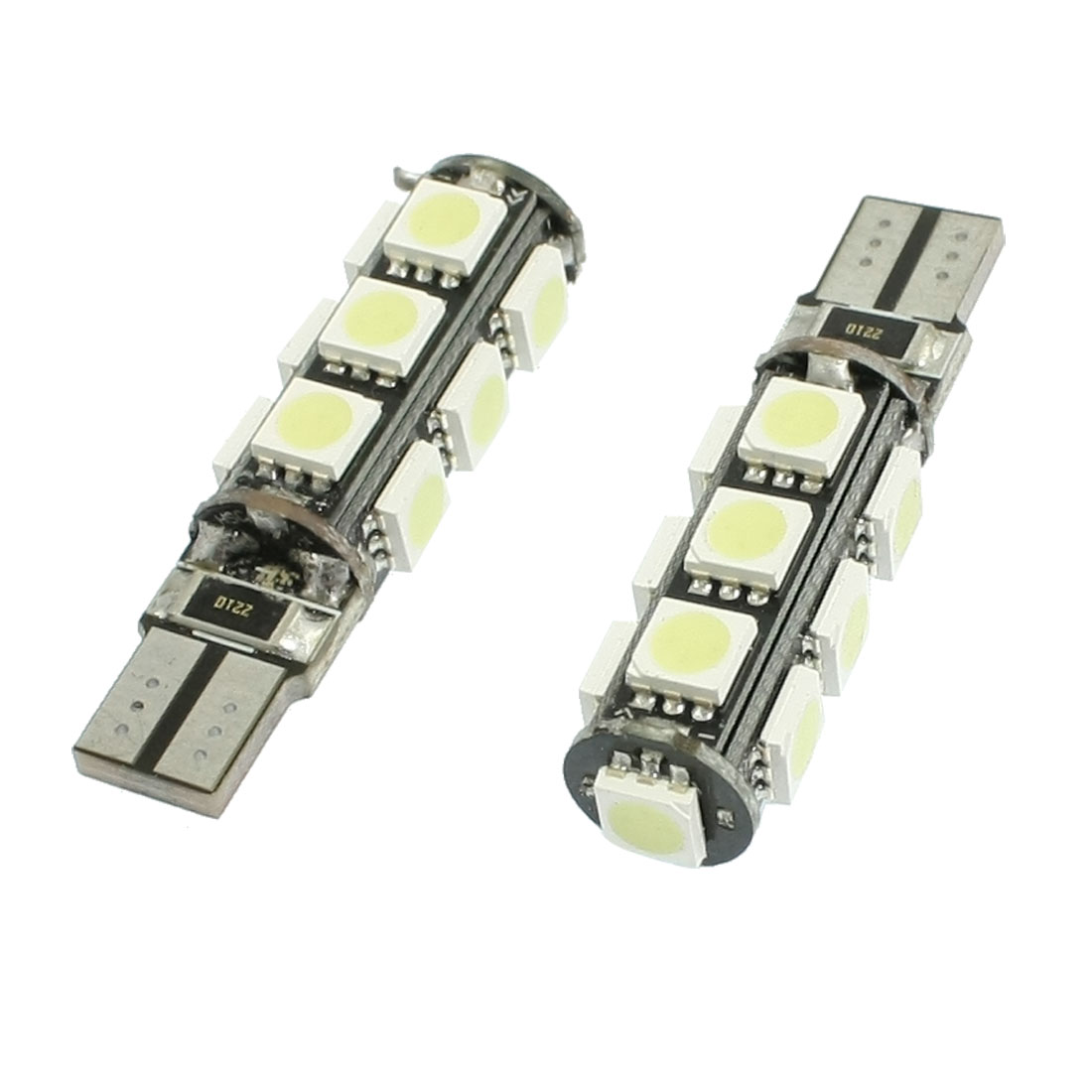 2 Pcs T10 194 168 White 5050 SMD 13 LED Canbus Wedge Light Bulb Lamp