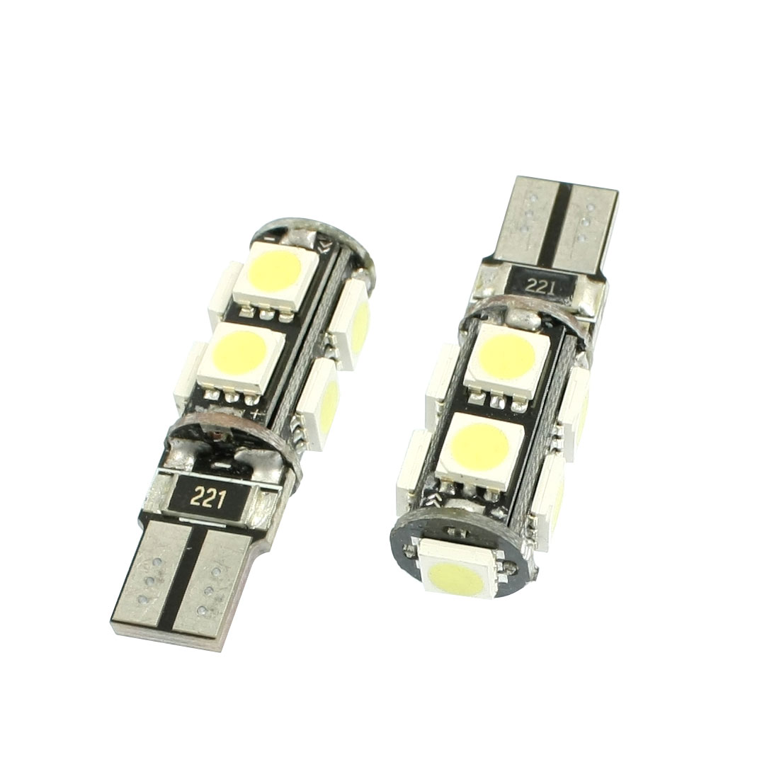 2 Pcs Car T10 194 168 White 5050 SMD 9-LED Wedge Light Bulb Lamp