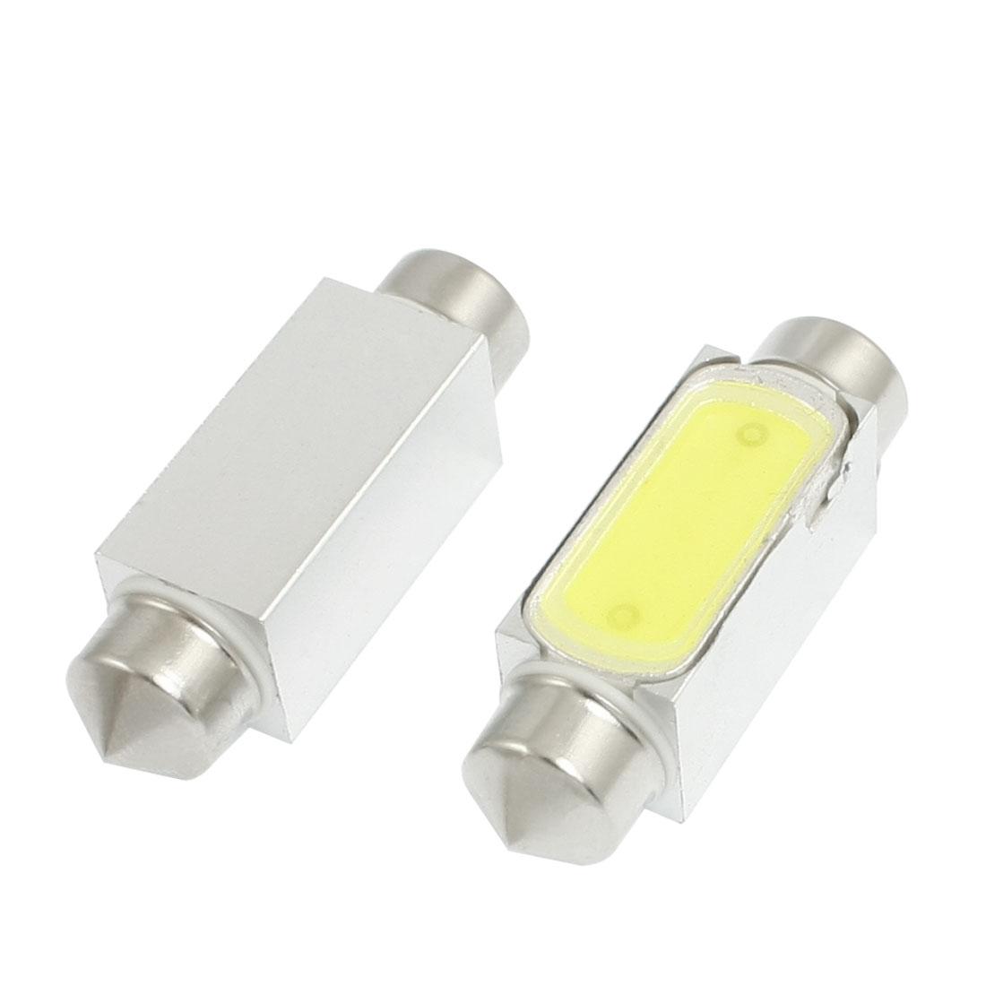 2 Pcs Car 36mm White High Power LED Light Festoon Reading Lamp