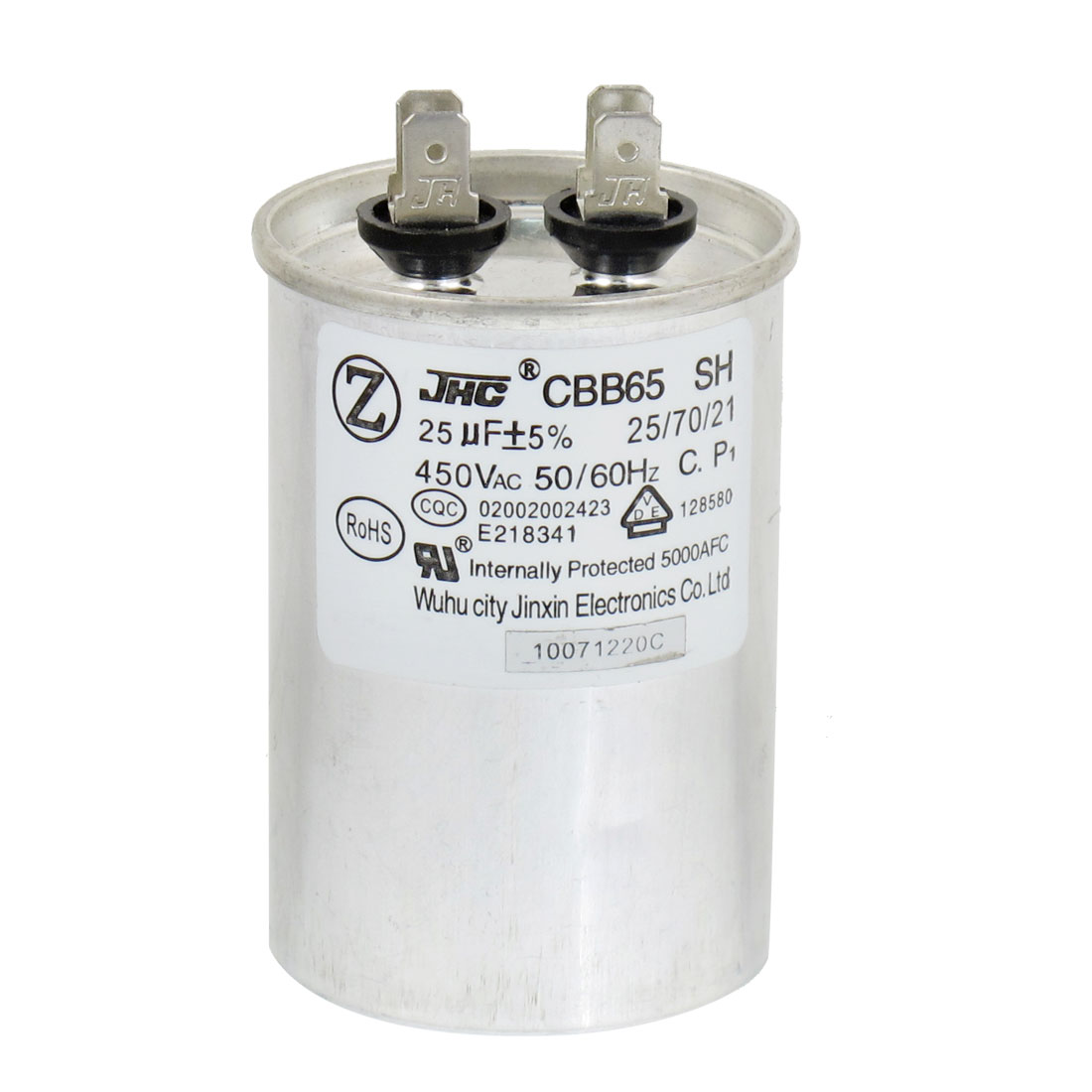CBB65 25uF AC 450V Motor Capacitor for Air Conditioner Engine